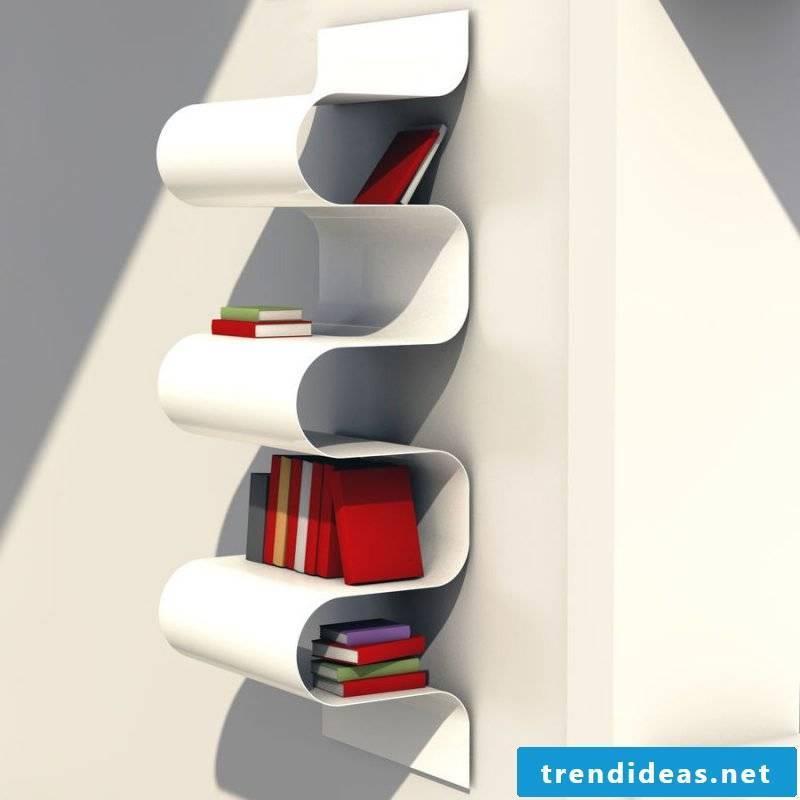 Unique metal shelf