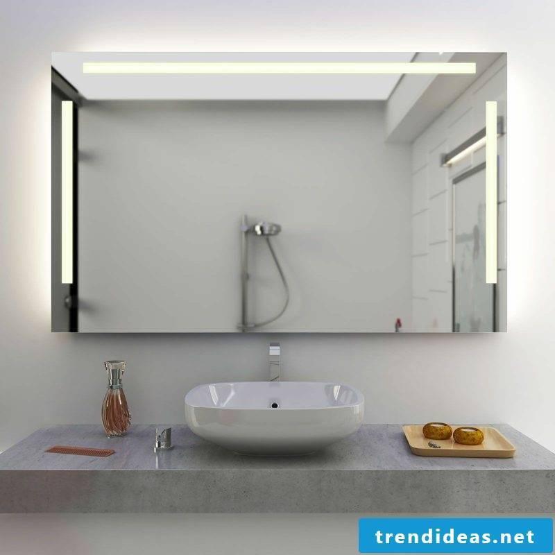 integrated mirror lighting bathroom
