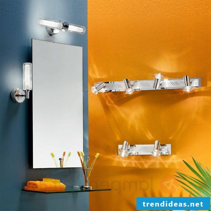 Mirror lighting with wall lamp