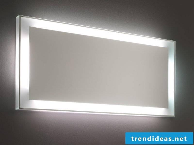 Mirror lighting in the bathroom