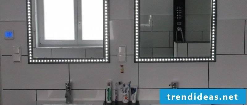 Mirror bathroom all-round lighting