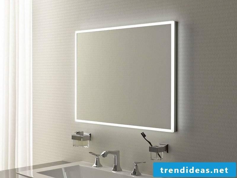 integrated lighting bathroom mirror