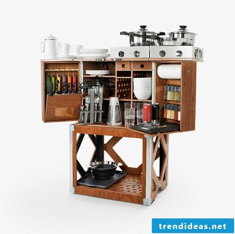 mobile kitchen interesting look multifunctional