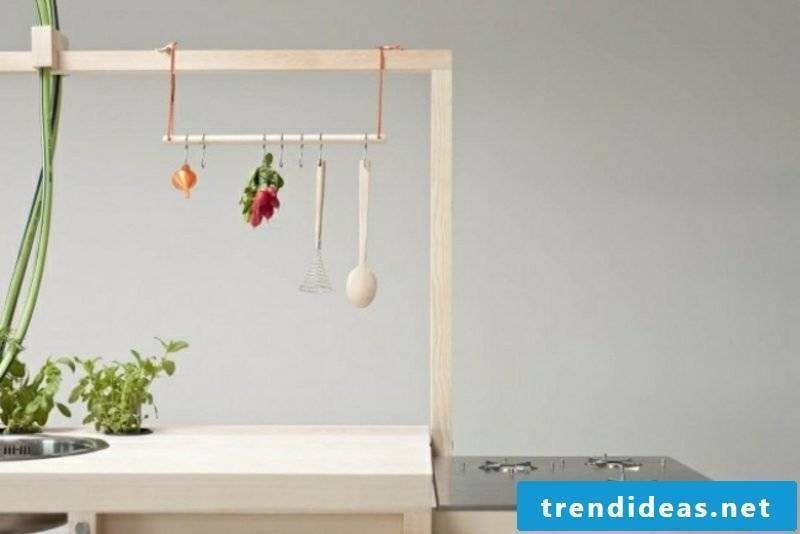 Modern mobile kitchen island functional and practical