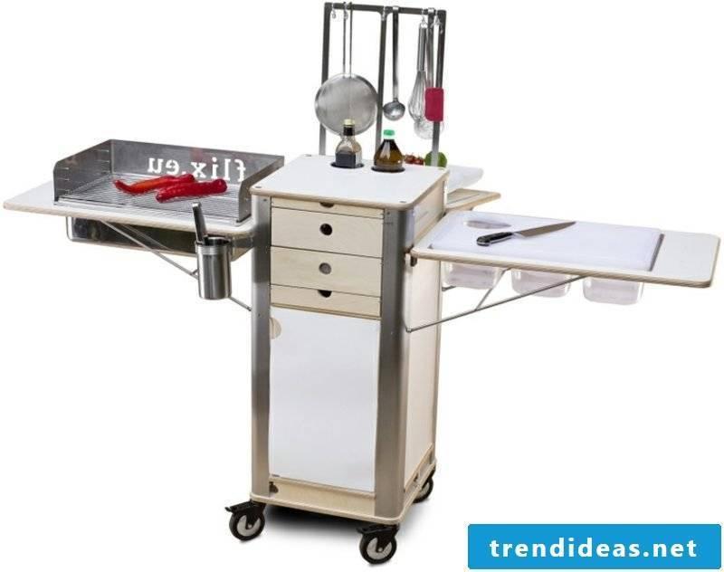 mobile kitchen on wheels extravagant look