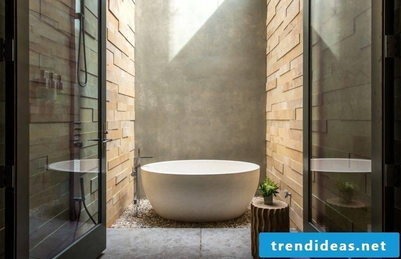 Bathroom design modern freestanding bath