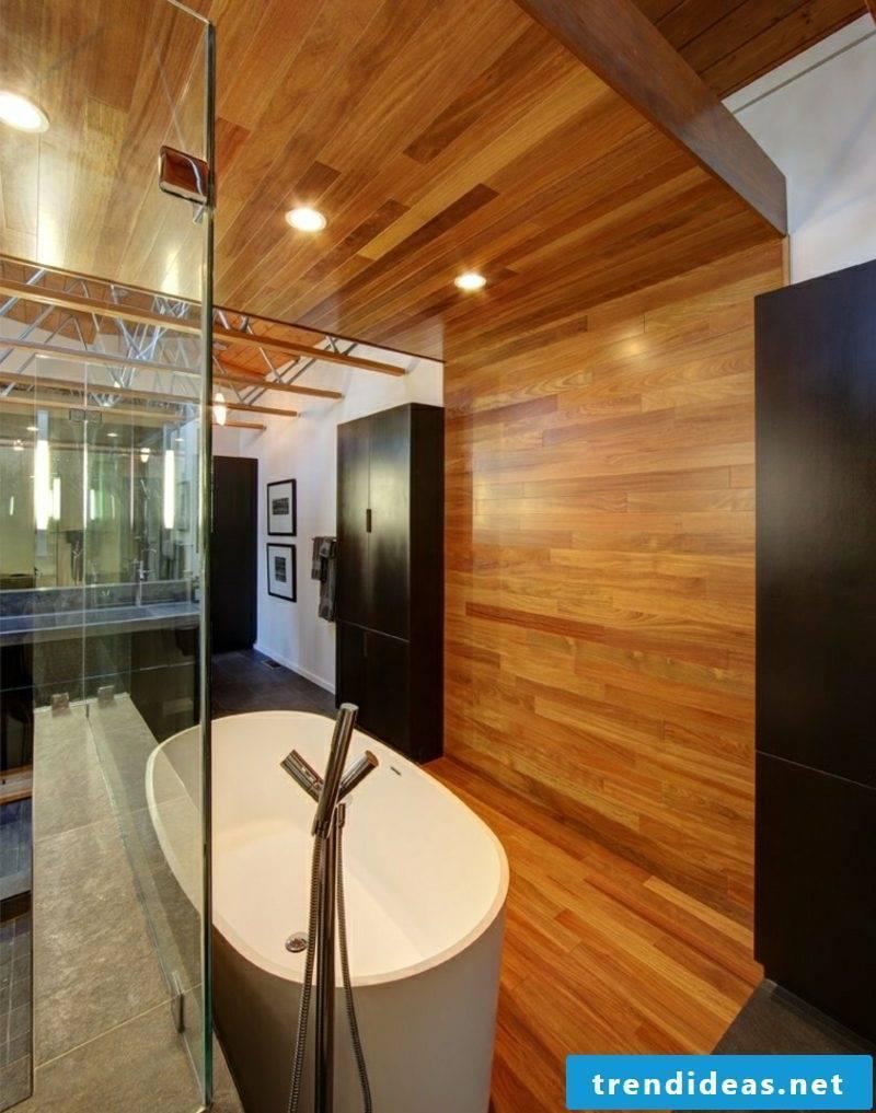 Bathroom design modern wood paneling