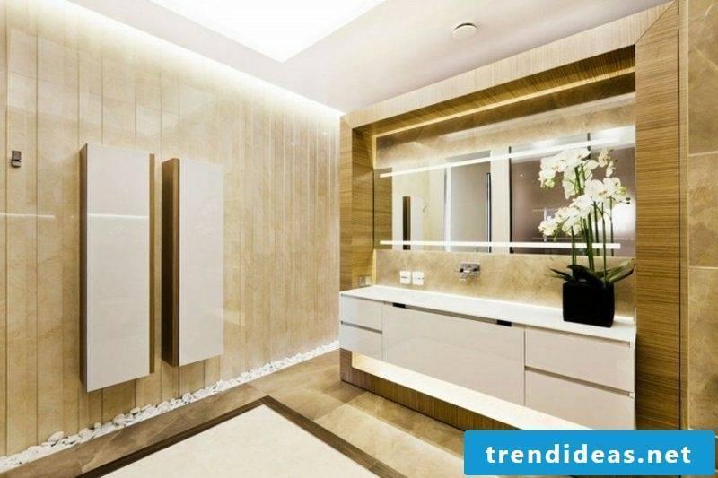Bathroom tile ideas beige modern look