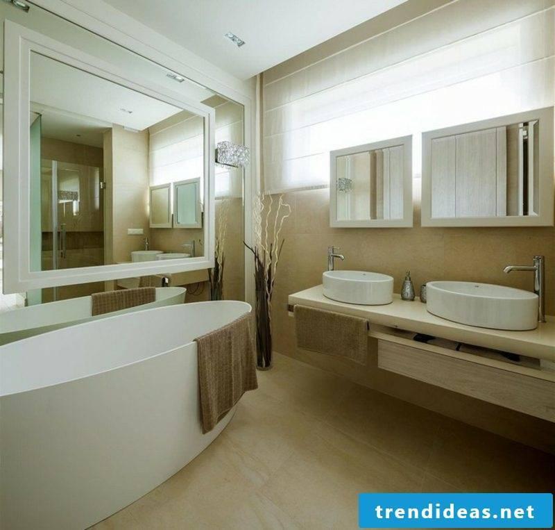 Bathroom tiles beige modern look