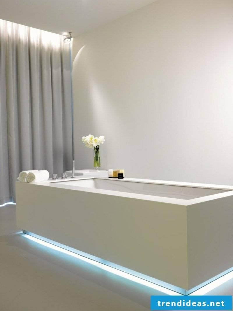Bathroom design modern accent lighting bathtub