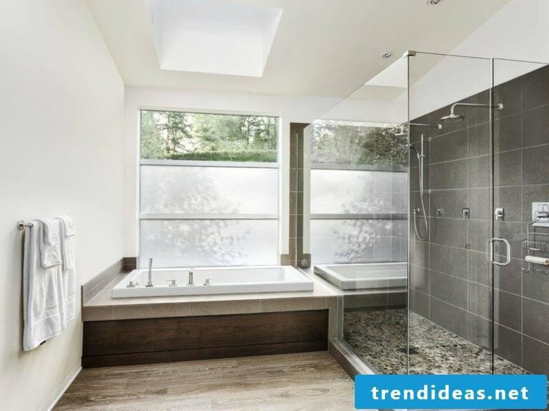 modern bathroom large bathtub glass shower cabin