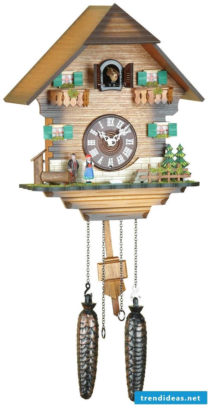 Cuckoo clock with birdhouse.