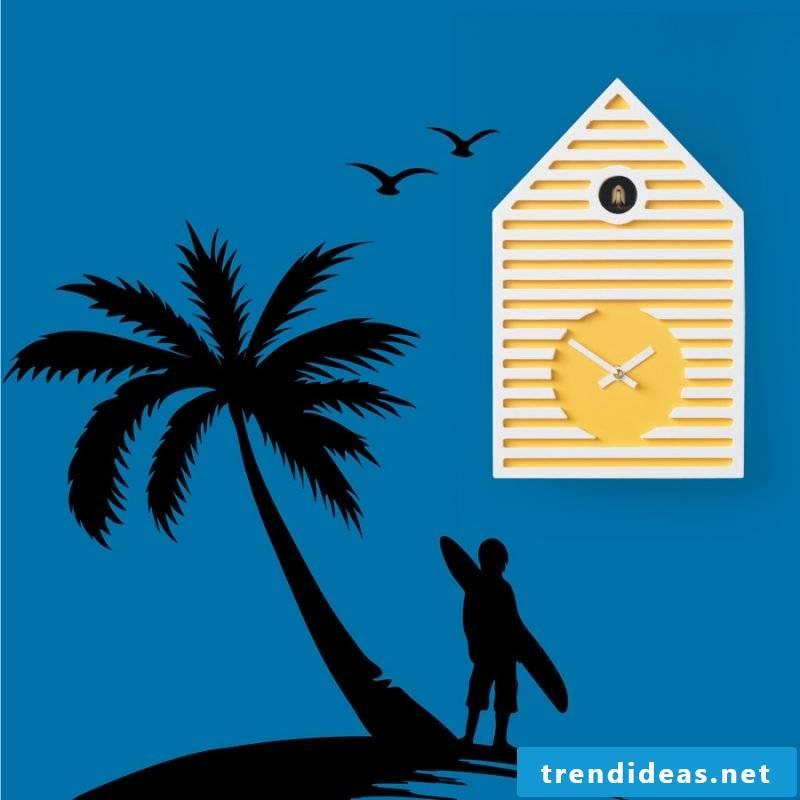 Yellow cuckoo clock