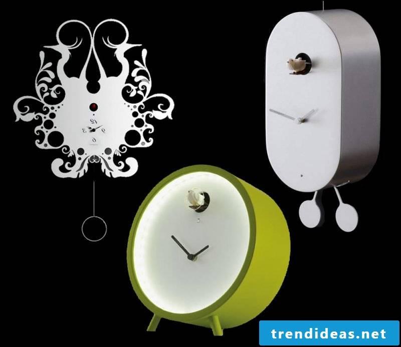 The variety of modern cuckoo clocks.