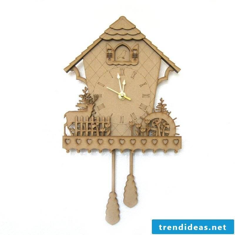 Woody cuckoo clocks of the new generation.