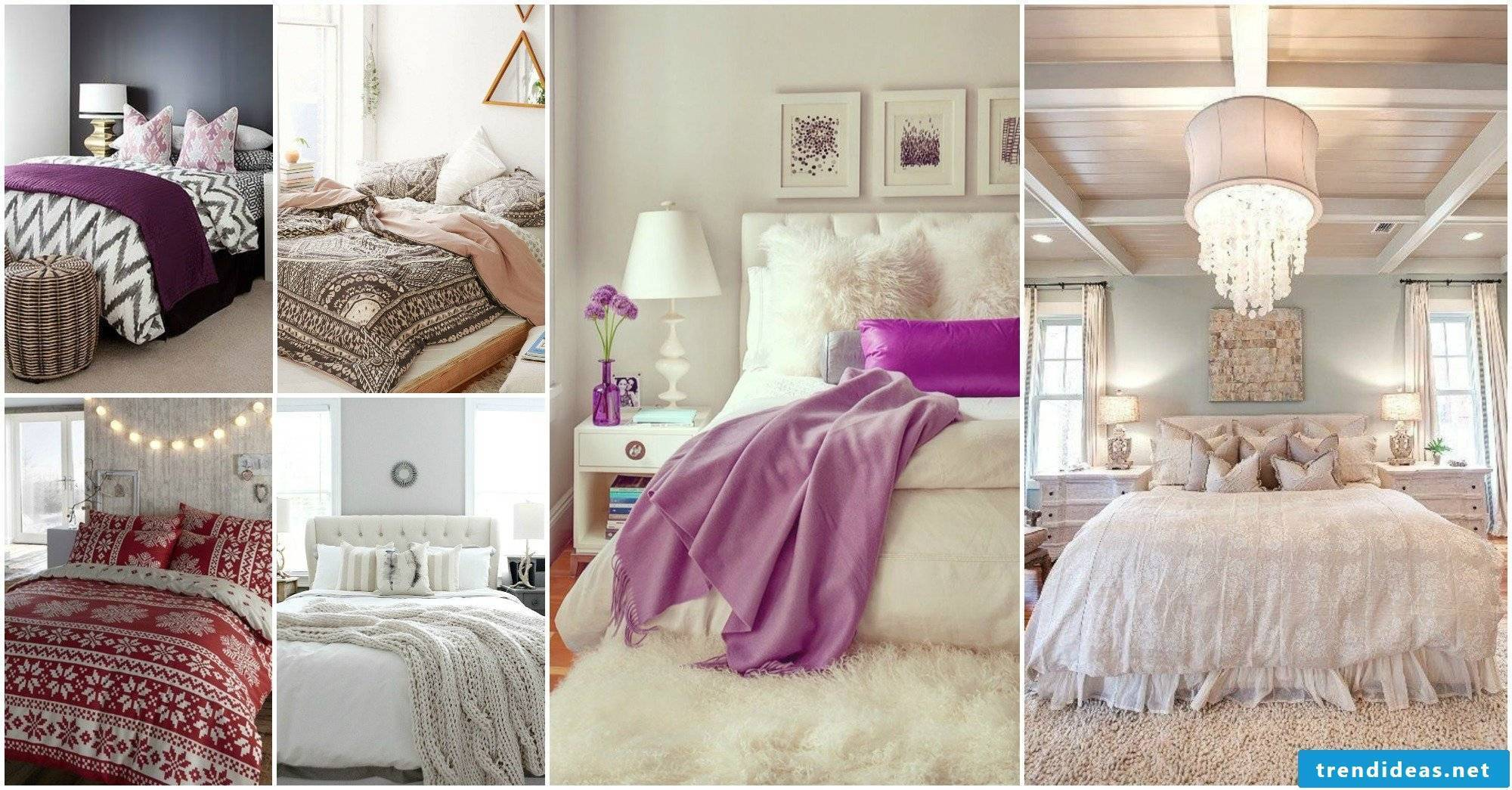 Decorate bedroom modern with fur