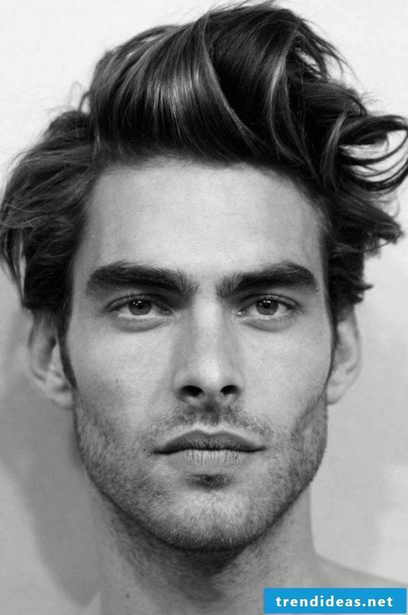 Men's hairstyles 2014 medium length hair ruffled extravagant look