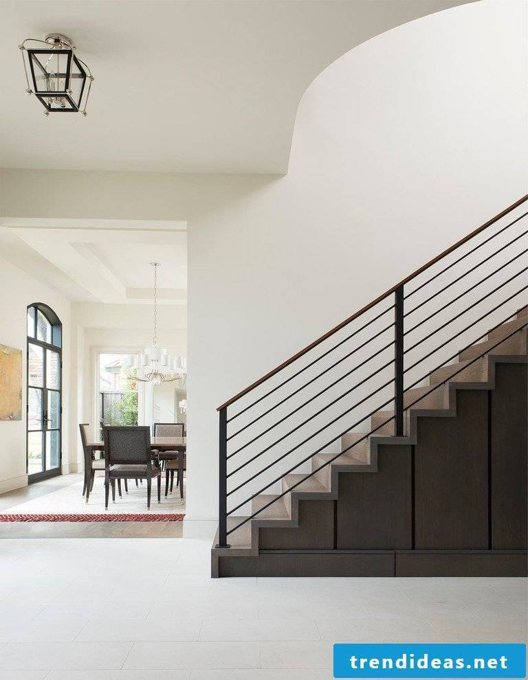 Staircase decoration - storage space under the stairs