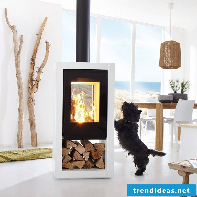 Modern stoves with white surfaces