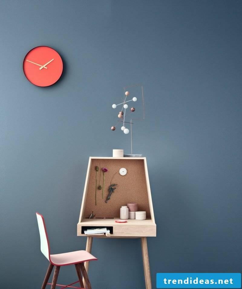 modern wall clocks vilfred beaver color