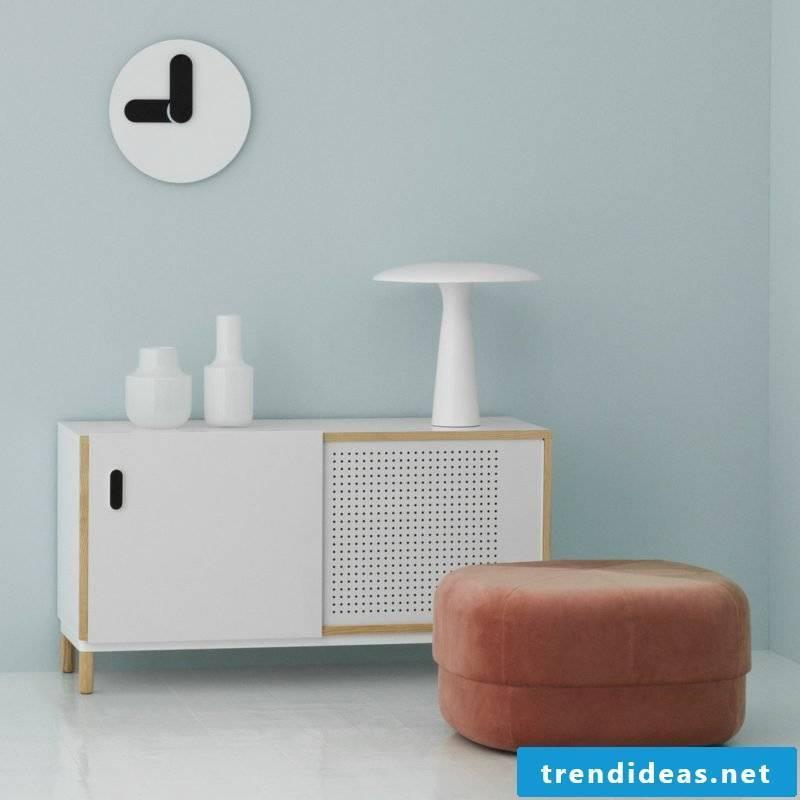 modern wall clocks white circus pouf large blush velor