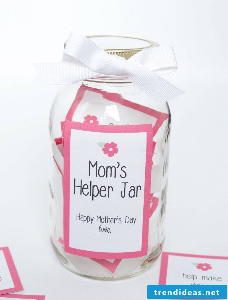 Mother's Day make gifts in the glass