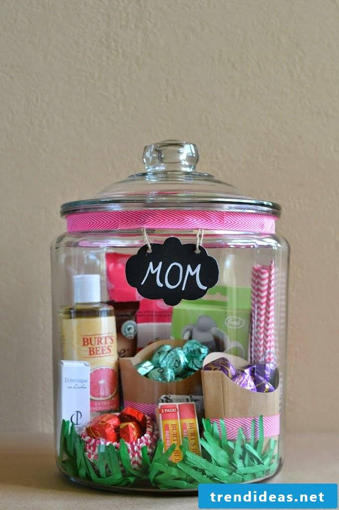 Mother's Day make gifts in glass instructions