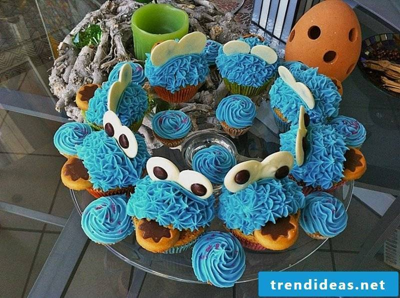 Muffins for kids birthday Cookie Monster
