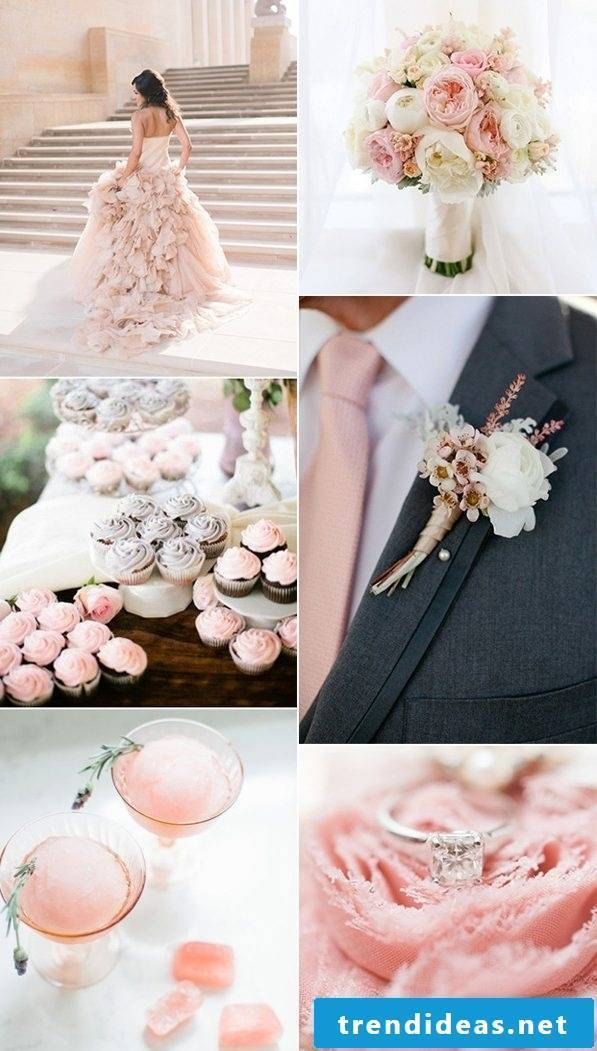 Wedding set in pastel colors - The overall picture looks beautiful!
