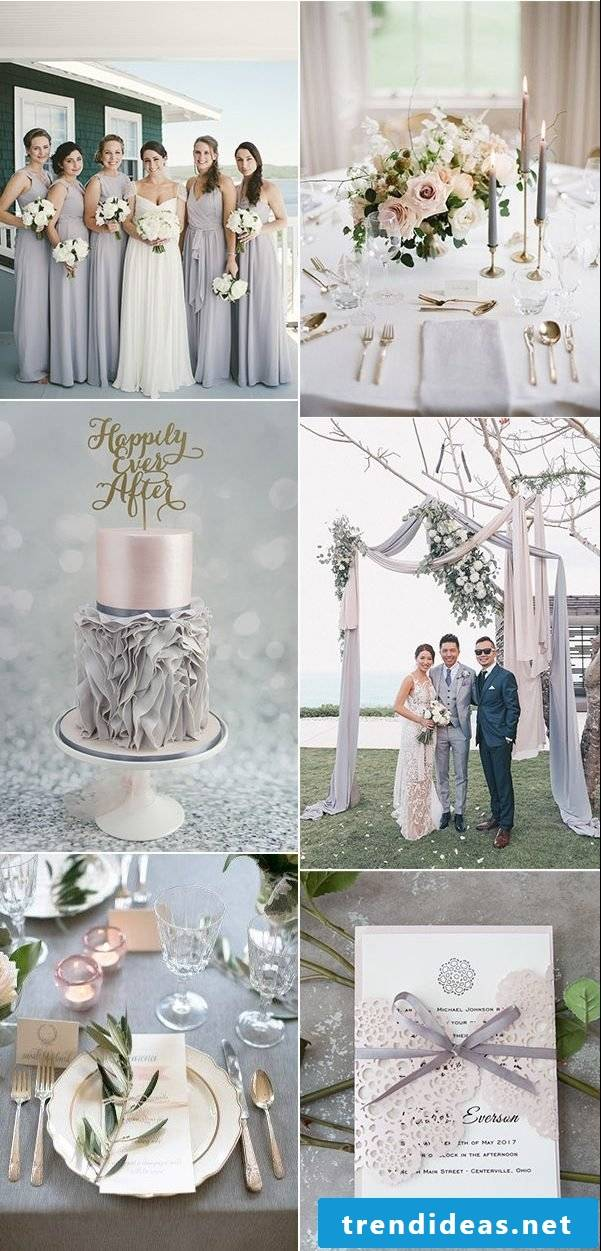 Pastel colors as the main color for your wedding in 2018