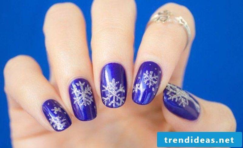 Nail art gallery winter snowflakes