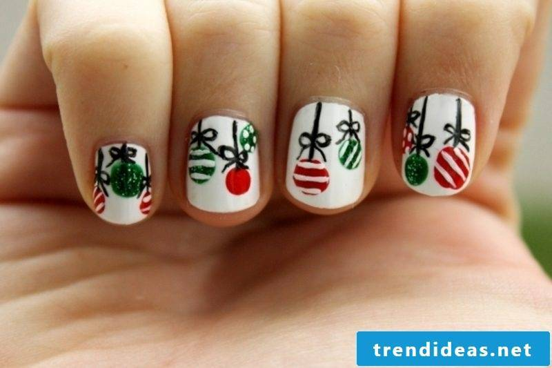 Nailart Gallery Christmas tree balls