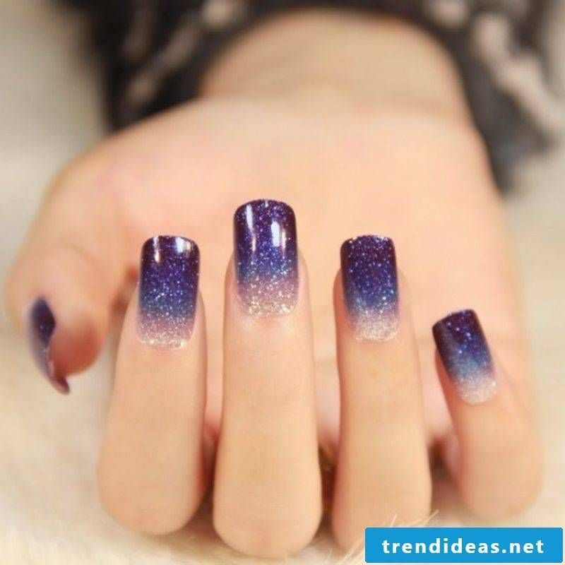 Nail art gallery Winter Ombre effect