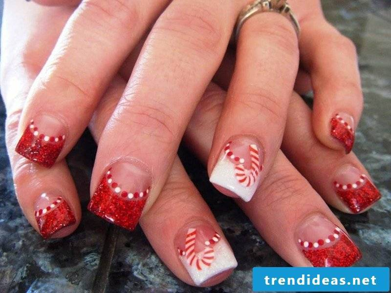 Nailart Gallery French Nails Christmas