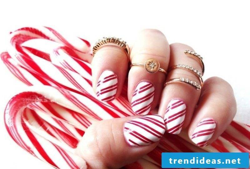 Nailart gallery candy cane