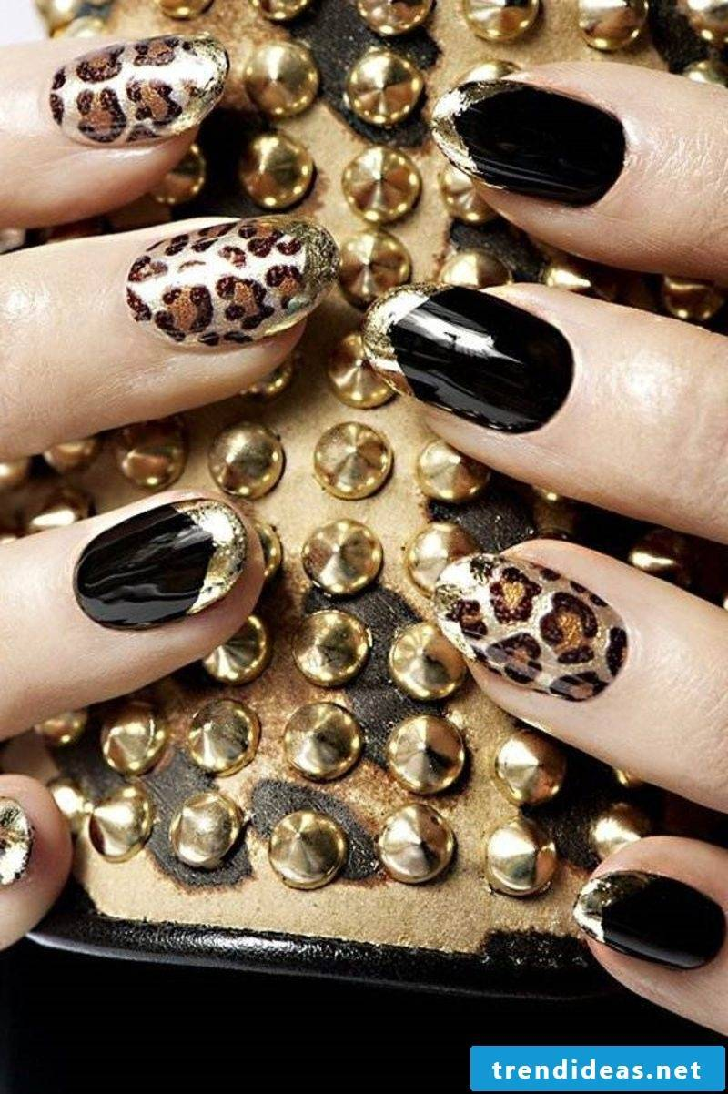 nailart gallery original nail design winter leopard pattern
