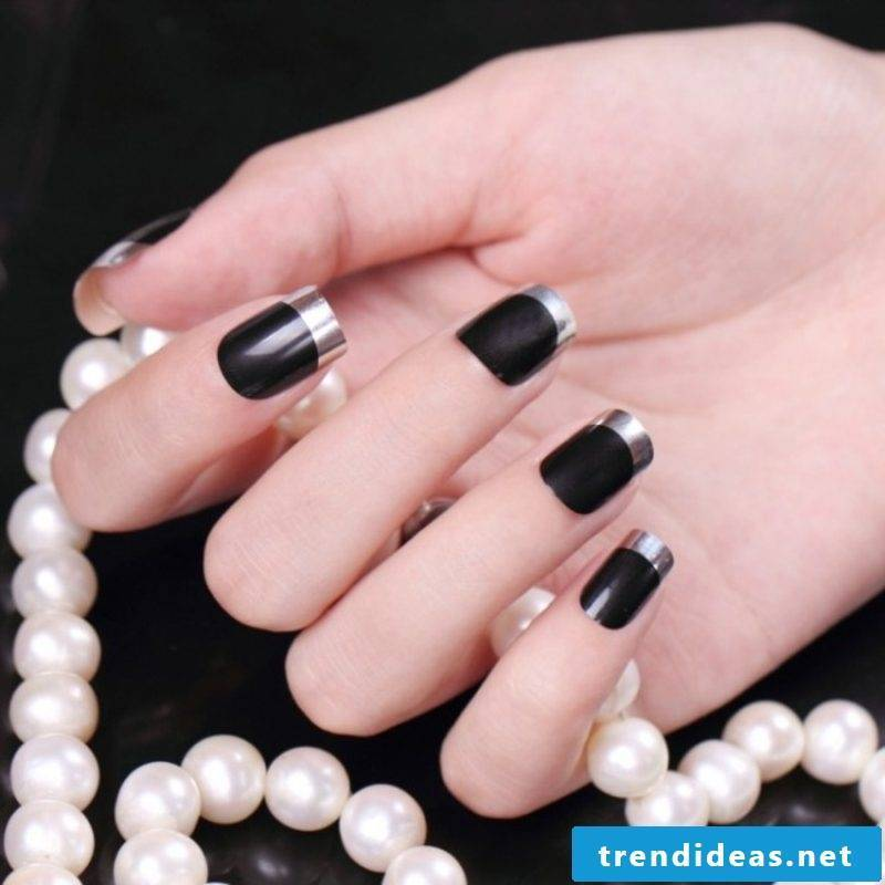 Nailart Gallery French nails creative ideas winter