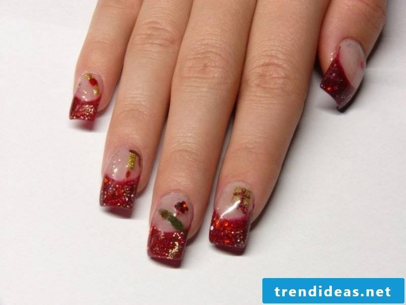 Nailart Gallery French fingernails winter