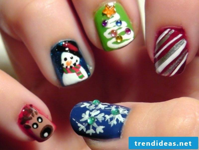 Nailart Gallery magic Christmas nails