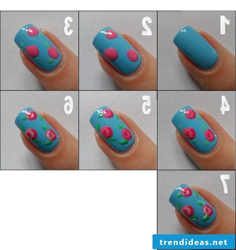 Nailart instructions steps