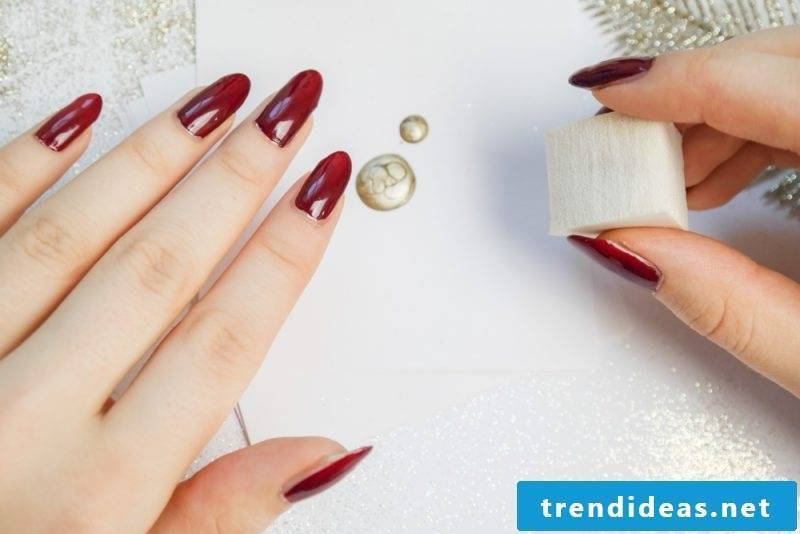 Nail Art Instructions Red Gold Step 1