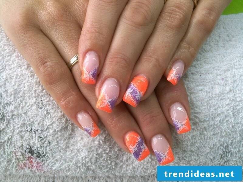 Nail art design flowers original ideas spring