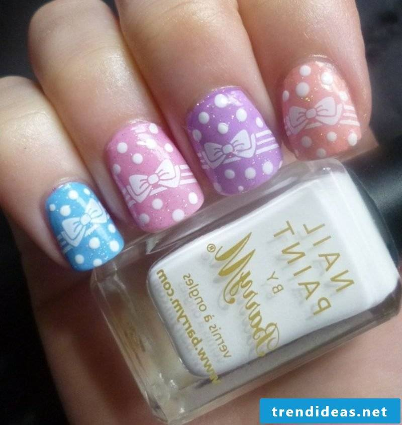 Nail art spring color trends pastel shades