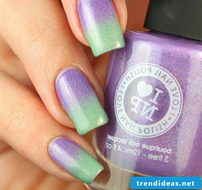 Ombre fingernails stunning color design