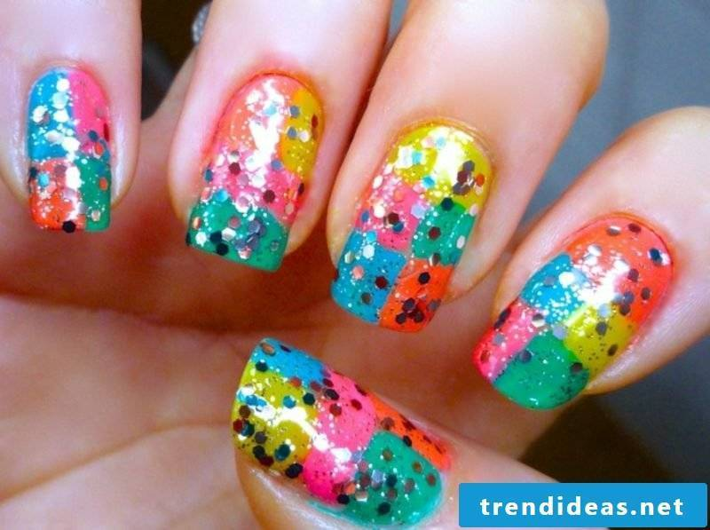 Nail art design in spring