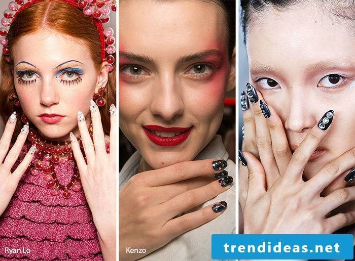 Nail Motives Design Trends 2017 are the crystals