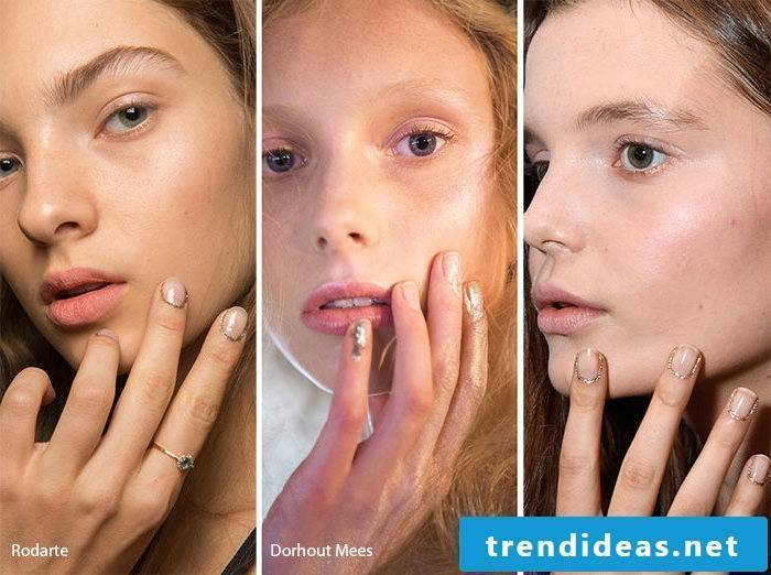 Nail motifs with Gliter are also Trends 2017
