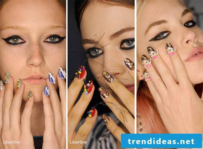 Nail Motives Trends 2017 - 3d Design