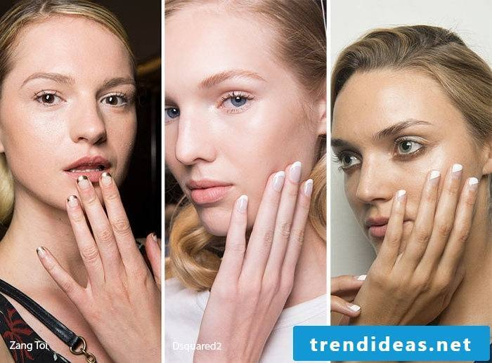 Nail motifs - a unique French design for 2017
