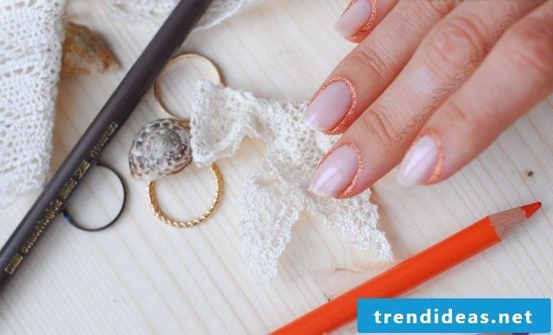 Rose quartz nail polish design